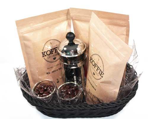 Geschenkmand Koffie