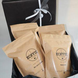 Geschenkdoos 4 Verschillende Koffies 250 Gr