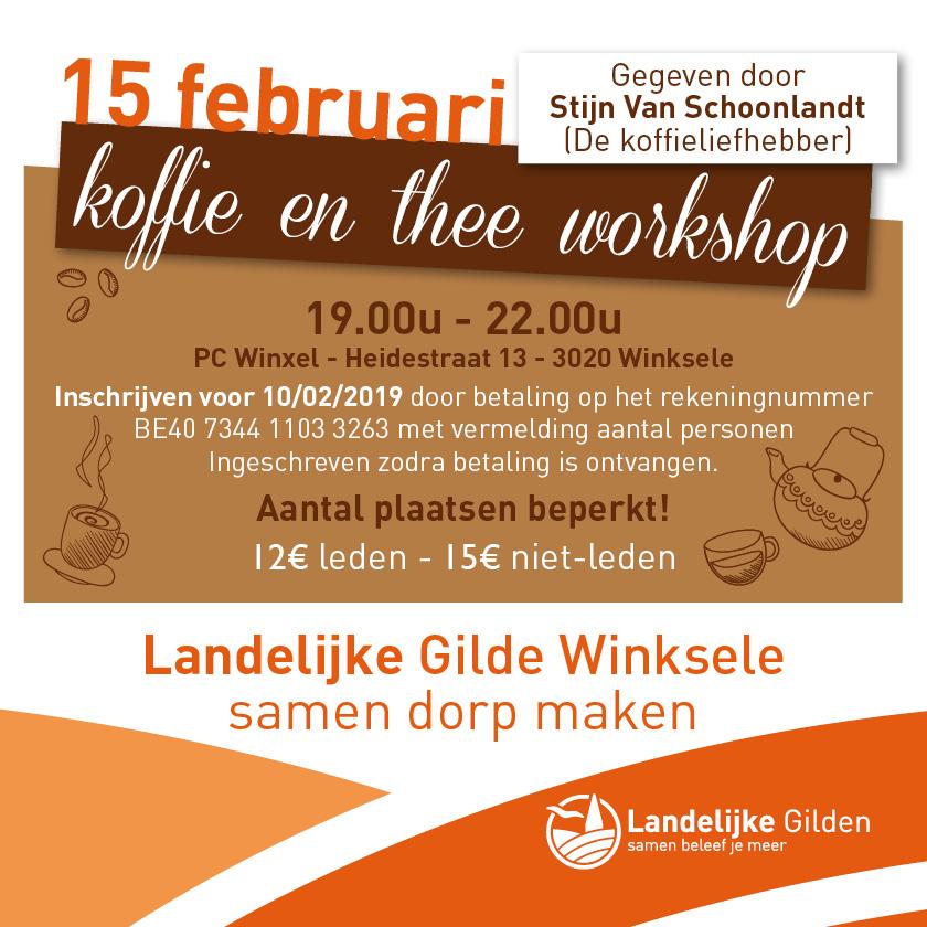 Workshop 'Koffie en thee beleven'